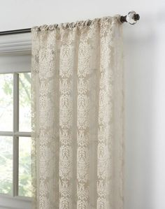 Traditional Damask Lace Curtain Panel / Curtainworks.com. **$10.49 Per  Panel!