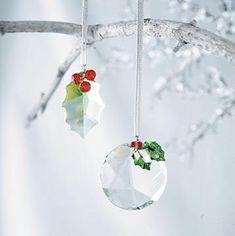 pretty Austrian Crystal Christmas ornaments...