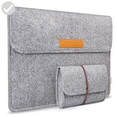 Inateck 13.3 Inch MacBook Air/ Retina Macbook Pro/ 12.9 Inch iPad Pro Sleeve Case Cover Ultrabook Netbook Carrying Case Protector Bag - Light Gray - Fun stuff and gift ideas (*Amazon Partner-Link)