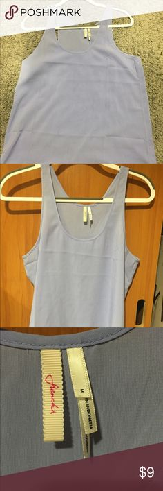 Lavender scoop-neck tank top Simple and practice! Looks amazing with white jeans! Worn twice! Nordstrom Tops Tank Tops