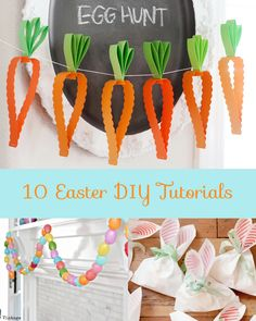 10 Easter DIY Tutorials Hello Love Designs (Love this garland! Hoppy Easter, Easter Bunny, Easter Eggs, Spring Crafts, Holiday Crafts, Holiday Fun, Easter Crafts, Kids Crafts, Easter Ideas