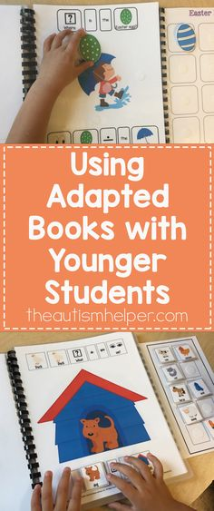 Adapted books help build on our preschoolers & younger student's current skill set while keeping it simple & straightforward. Check out our tips on the blog! From theautismhelper.com #theautismhelper