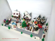 Little Yellow Brick - A Lego Blog: Our Lego Winter Village MOC - 10199 Winter Village Toy Shop, 10216 Winter Village Bakery and 10222 Winter Village Post Office!