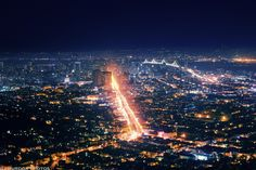 Night time in the city of San Francisco..