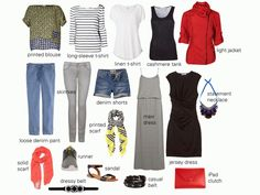Summer Travel Wardrobe - 10 key pieces, 2 pairs of shoes, and a few accessories for travelling through Germany.