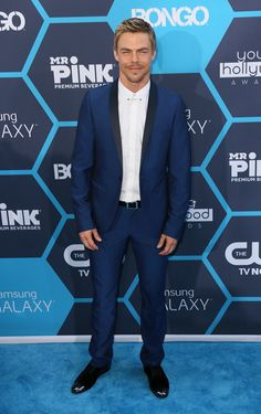 Who: Derek Hough Wore: A navy blue suit with black trim Where: 16th Annual Young Hollywood Awards via StyleList | http://aol.it/1l7q9Fn