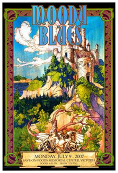 Moody Blues in Concert Poster von Bob Masse