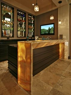 The Chic Technique Wet Bars - contemporary - media room - t&a - by Veranda Homes & Small Basement Bar Design Pictures Remodel Decor and Ideas. I ...