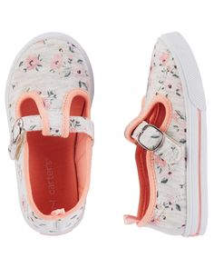 a82bb02fb2e82a Toddler Girl Carter s Floral Mary Jane Sneakers