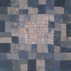 """Elizabeth MacDonald, Blue Square After Klee,  2005, Ceramic, 22.5"""" x 22.5"""""""