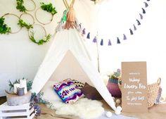 子どもたちだけの秘密の隠れ家♪簡単に作れる「ティピー」と、ティピーのあるお部屋の画像をご紹介します。