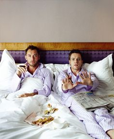 Jude Law & Ewan McGregor by Lorenzo Agius