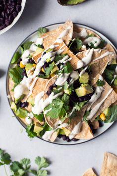 Healthy Vegan Nachos + Homemade Tortilla Chips