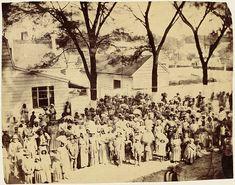 """""""Slaves, J.J. Stanton Plantation, South Carolina,"""" 1862"""