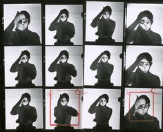 Contact sheet of portraits of American photographer and journalist Dennis Stock as he holds a camera and looks through the viewfinder, Get premium, high resolution news photos at Getty Images James Dean, History Of Photography, Film Photography, Dennis Stock, Camera Life, Jazz, Contact Sheet, Famous Portraits, Berenice Abbott