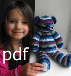 Thursday Handmade Love week 66 Theme: Teddy Bears Includes links to #free #crochet patterns  Crochet Teddy Bear Pattern pdf via Etsy
