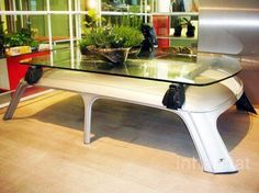 Coffee table from car part - added by Jennifer Alves