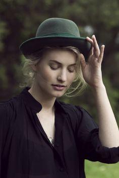 Little green hat.