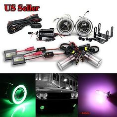 "For vw usa 3"" #projector fog #lights+green ccfl angel #eyes+switch+12000k hid kit,  View more on the LINK: 	http://www.zeppy.io/product/gb/2/112109461843/"