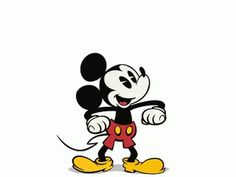 Mickey is always one happy mouse