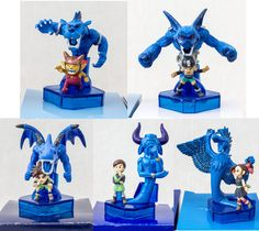 Set of 5 Blue Dragon Original Mini Figure Akira Toriyama JAPAN GAME X-BOX