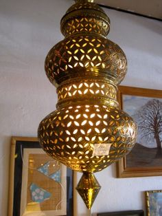 Brass Moroccan Style Chandelier