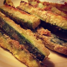 Zucchini Fries with basil dipping sauce. Crispy oven bake with a ...