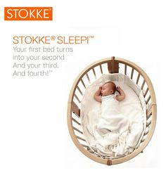 The Stokke Sleepi System is a practical convertible crib system that converts to grow with your baby in 6 stages. The first stage is an oval bassinet shape that provides baby with a comforting nest environment and then can easily be converted in to a crib as your baby's needs change & then later on, a toddler bed. www.preschoolshop.com/nursery/furniture/cribs-and-beds/stokke-sleepi-convertible-crib-system/