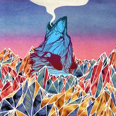 wolf breath and triangles Art And Illustration, Illustrations, Wolf Pictures, She Wolf, Native American Art, Painting Inspiration, Cool Art, Art Drawings, Photos