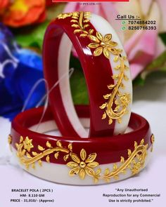 Thread Bangles Design, Gold Bangles Design, Gold Earrings Designs, Gold Jewellery Design, Gold Jewelry, Bridal Bangles, Bridal Jewelry, Bridal Necklace, Gold Necklace