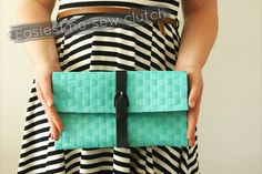 How cute is this clutch? And there's no needle and thread involved. | 41 Awesomely Easy No-Sew DIY Clothing Hacks