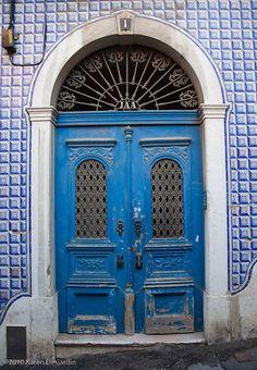 Blue door, Alfama, Lisbon