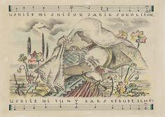Martin Benka - Lullabies (1945), Slovaquie. Janome, My Land, Childrens Books, Humor, Paintings, Art, Children's Books, Art Background, Children Books