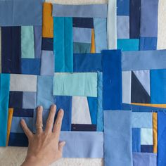 Like chords in music, the colors in her paintings create visual ... : patchwork quilt chords - Adamdwight.com