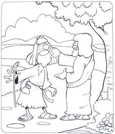 Jesus Blind Man Coloring Page Bible Pinterest Sunday school