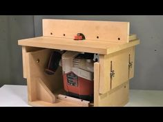 Dremel Router, Router Tool, Woodworking Techniques, Woodworking Tools, Diy Router Table, Workbench Organization, Jigsaw Table, Homemade Tools, Wood Tools