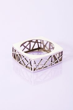 Geodesic Ring - Silver in Accessories Sale at Nasty Gal