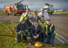 9 Dec 2013 - Apprenticeship scheme takes off at Belfast International Airport. Pictured is Employment & Learning Minister, Dr Stephen Farry with the apprentices.  http://www.belfastairport.com/en/news/1/289/airport-apprenticeship-scheme-takes-off-at-airport.html #apprentice #apprenticeships #learning #work #jobs #belfast #airport #belfastinternational #belfastinternationalairport #bia #flying #plane #holiday #trip #vacation