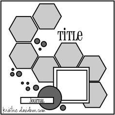 Sketch: MSC November sketch 2 Hexagons - what a fabulous flow