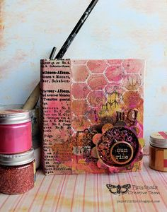 Riikka Kovasin - Paperiliitin: Canvas journal - Finnabair Creative Team