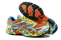 the best attitude cc26b 3f325 off Shop Asics GEL Noosa Tri 6 Mens Orange Green White Blue Yellow again By  Western Union