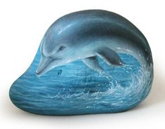 Roberto Rizzo dolphin 730x572 The art of Roberto Rizzo   rock painting and more