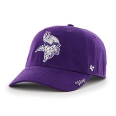 Minnesota Vikings Sparkle Team Color Clean Up Purple 47 Brand Womens Hat 732794265