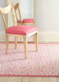 pink leopard rug.  There are so many things right about it