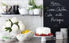 menu Blackboard Paint, Chalkboard, Lemon Chiffon Cake, Cool Stuff, Kitchen, Food, Vintage Style, Spa, Menu