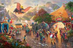 Dumbo by Thomas Kinkade Studios | Framed
