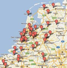 Roparun - doelen verdeling door heel Nederland
