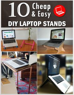 We will tell you how you can make different types of laptop stands with things that you may have at your home or office.