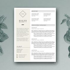 If you are aesthetically aware individual who wants to build professional & tasteful presence - our resume templates will help you do it with character and Cover Letter For Resume, Cover Letter Template, Letter Templates, Design Templates, Best Resume Template, Cv Template, Resume Tips, Resume Cv, Business Resume