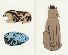 I still very much want to add some animal art to my apartment. These would do.